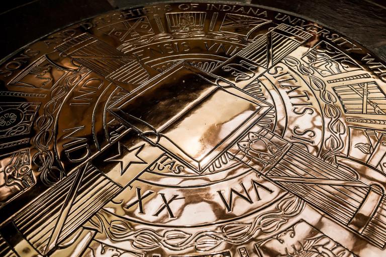 Gold Indiana University seal