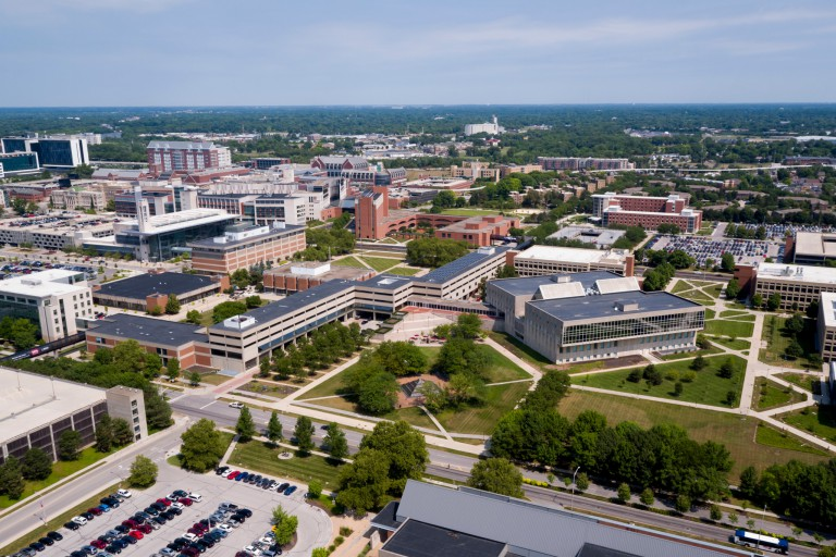 aerial view of IUPUI