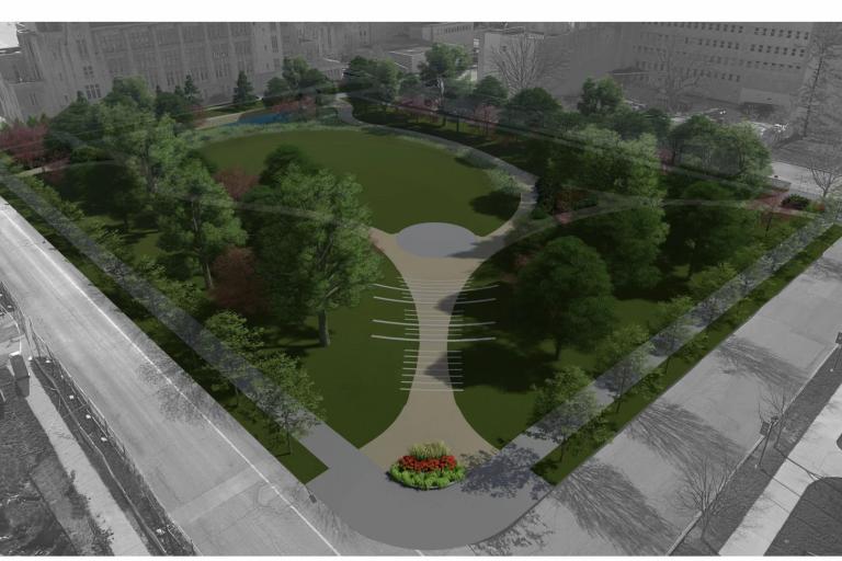 the northwest quad proposed on the IU Bloomington campus
