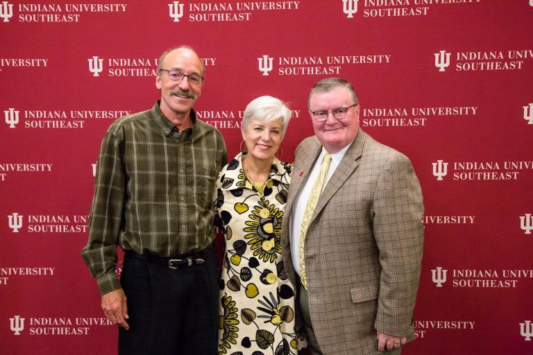 Brian Jones, Cynthia Torp and Chancellor Ray Wallace