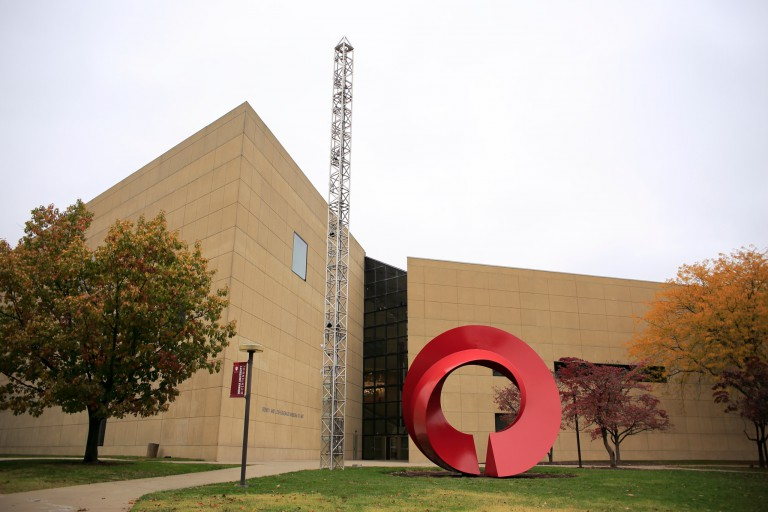 Exterior of Sidney and Lois Eskenazi Museum of Art