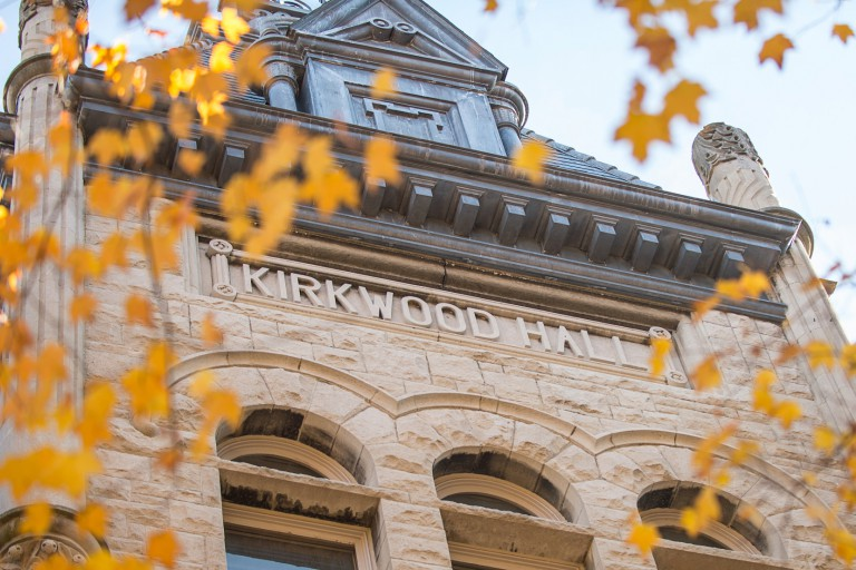 Exterior of Kirkwood Hall tower