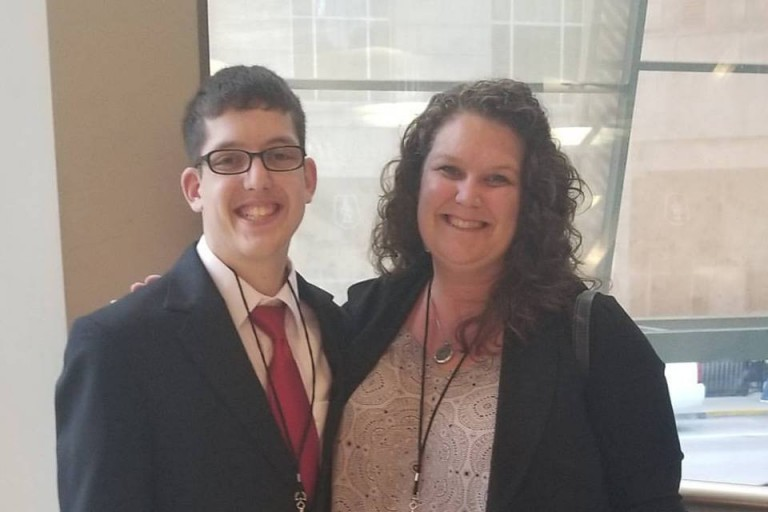 Erika Thomison and her son Andrew