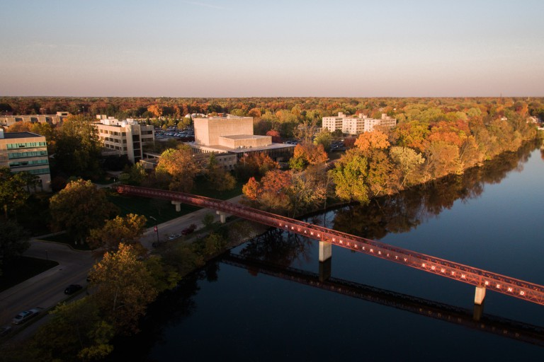 Aerial view of South Bend campus