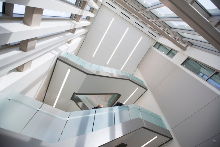 Stairs in the SPEA building addition