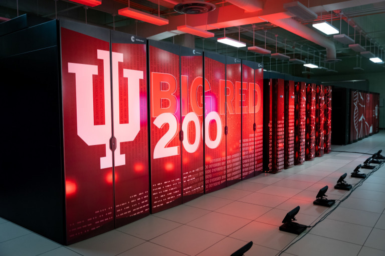 External image of IU's Big Red 200 supercomputer