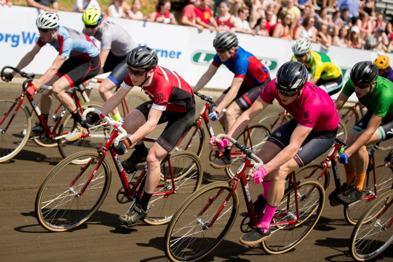 Men riders racing at the 2016 Little 500