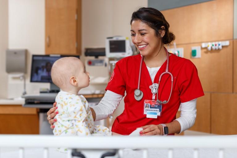 IU nursing student Keyla Ramirez at Riley Hospital