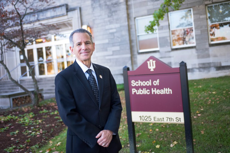 David Allison outside the School of Public Health-Bloomington.