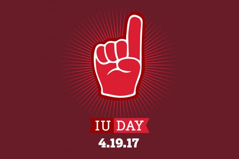 IU Day foam finger graphic