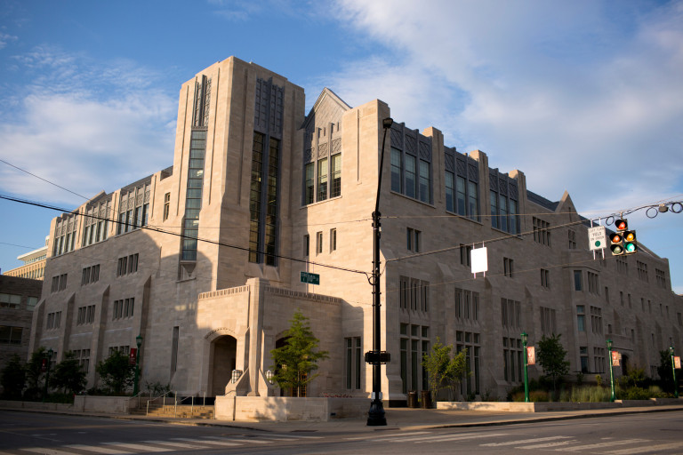 Exterior of Kelley School's Hodge Hall