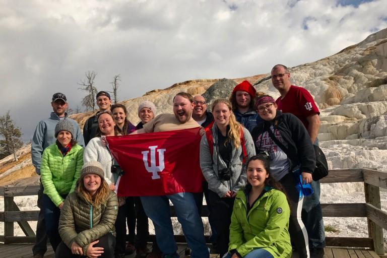 IU Kokomo students in Yellowstone