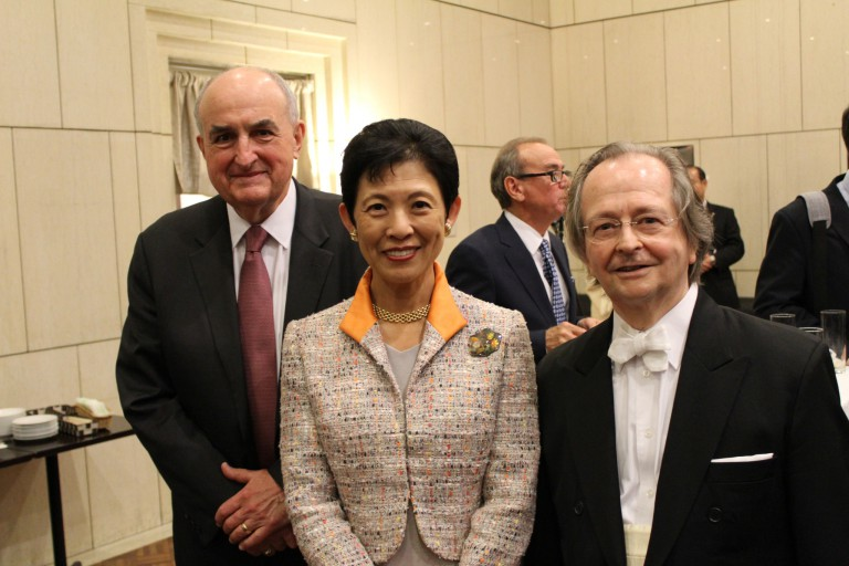IU President McRobbie with Her Imperial Highness Princess Takamado of Japan and Robert Ryker