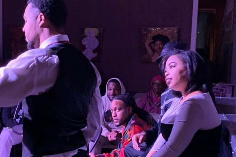 "Audiences watch Black actors perform ""A Bluesy Night"" in November 2019"