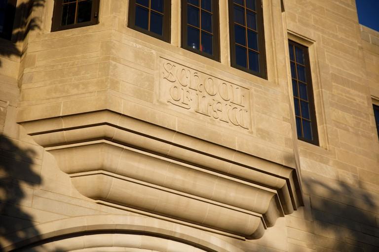 School of Law written in limestone