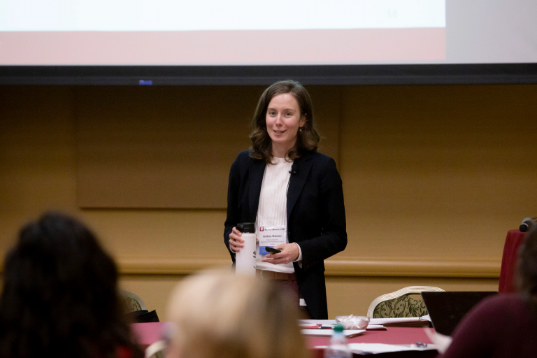 Andrea Webster, IU Environmental Resilience Institute, leads a 2019 IU Rural Conference session.