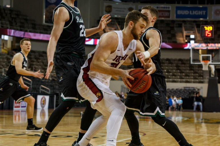 IUPUI men's basketball plays against Wright State.