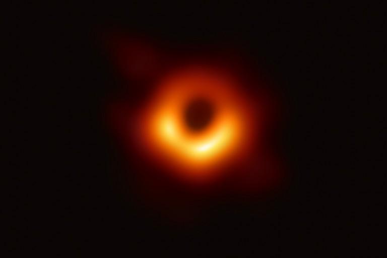 Famous black hole image
