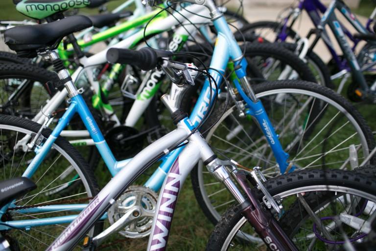 Bikes on campus.