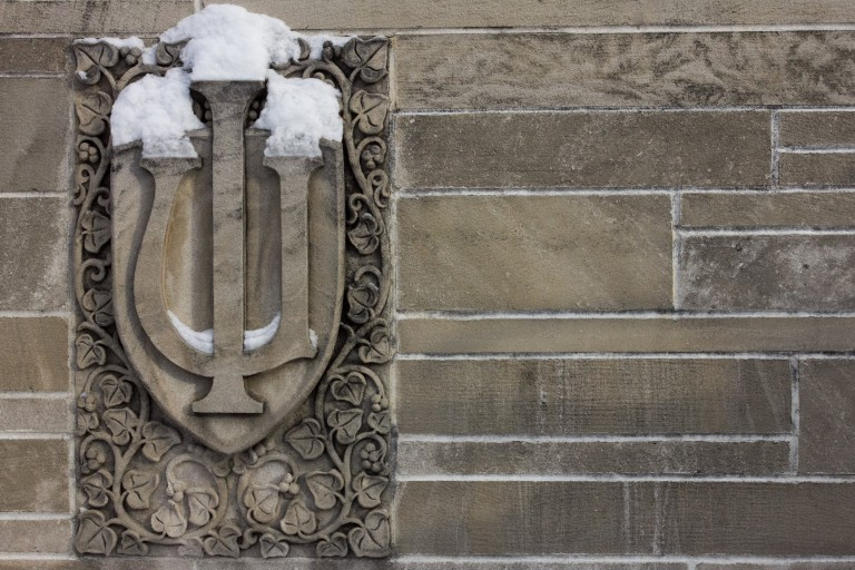 IU trident covered in snow