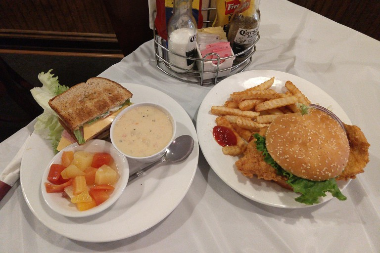 Bearcats' club sandwich and breaded tenderloin are perfect for lunch