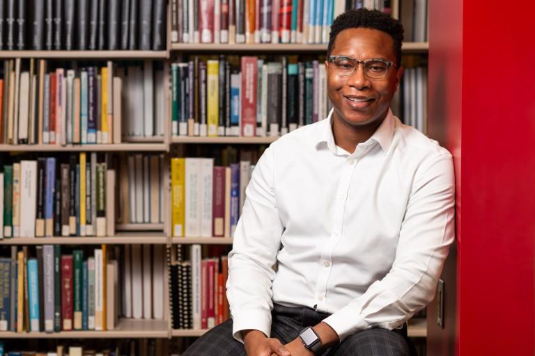 Willie Miller explains the perks of University Library's Books on Demand