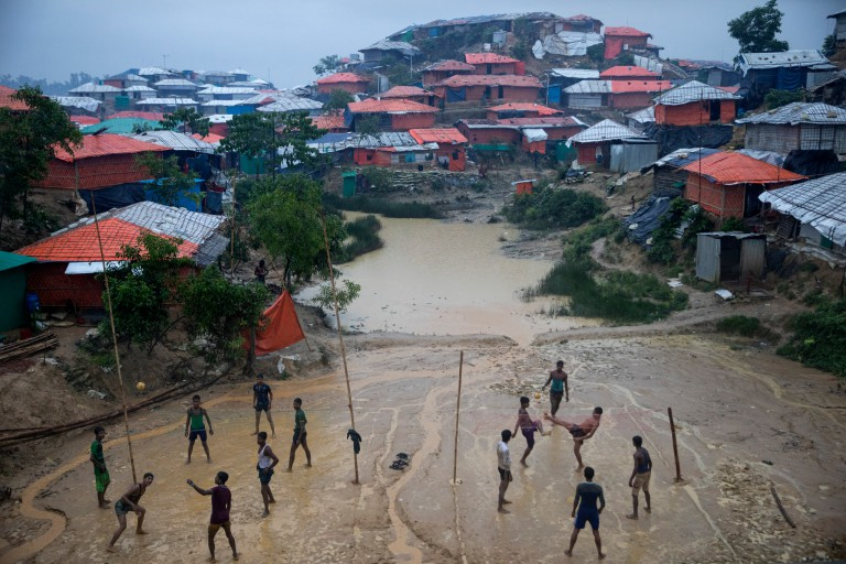 A Rohingya refugee camp in Bangladesh