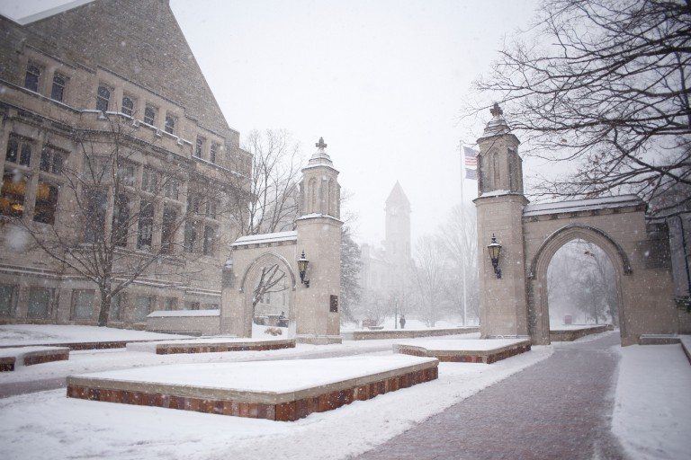 Sample Gates on the IU Bloomington campus on January 12, 2018