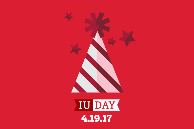 IU Day party hat graphic