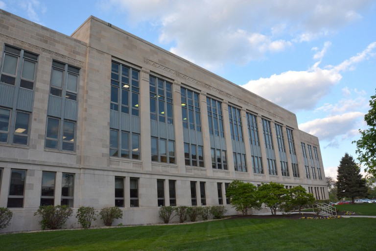 Exterior of the IU School of Dentistry building
