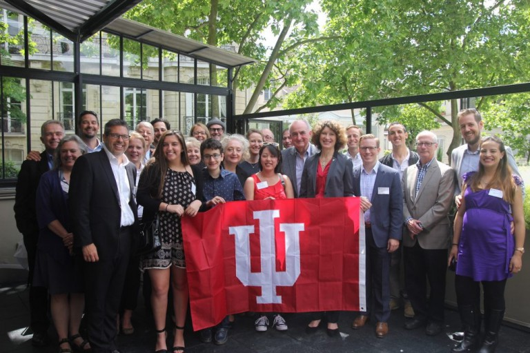 The IU delegation with partners in France