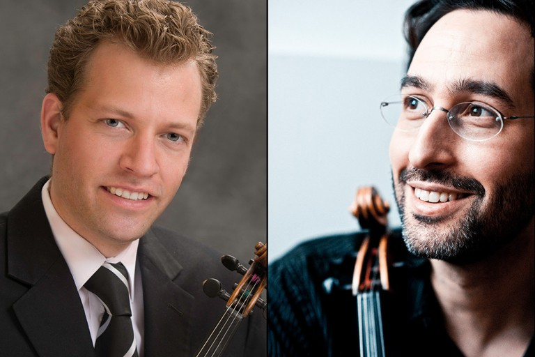 Violinist Austin Hartman and violist Guy Ben-Ziony
