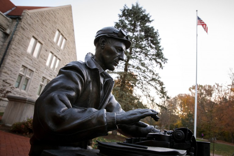 Ernie Pyle statue at IU Bloomington