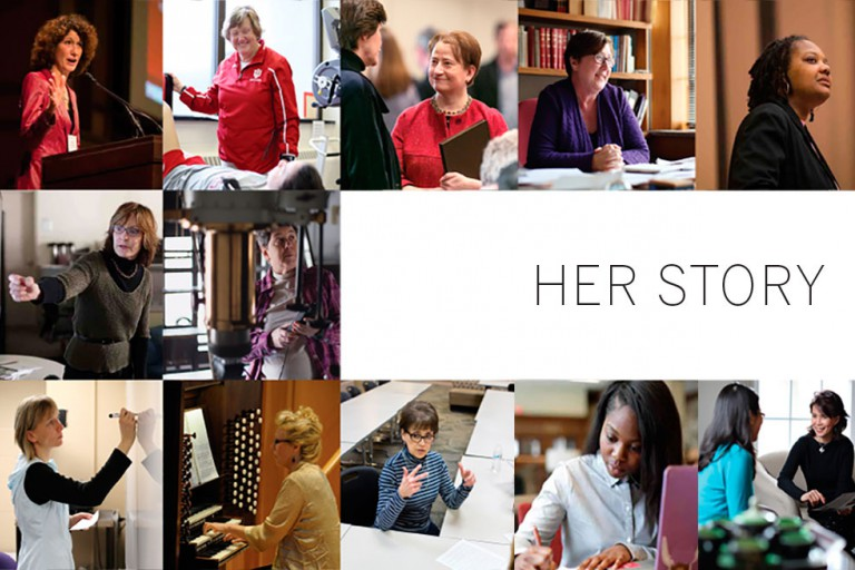 collage of women at iu bloomington