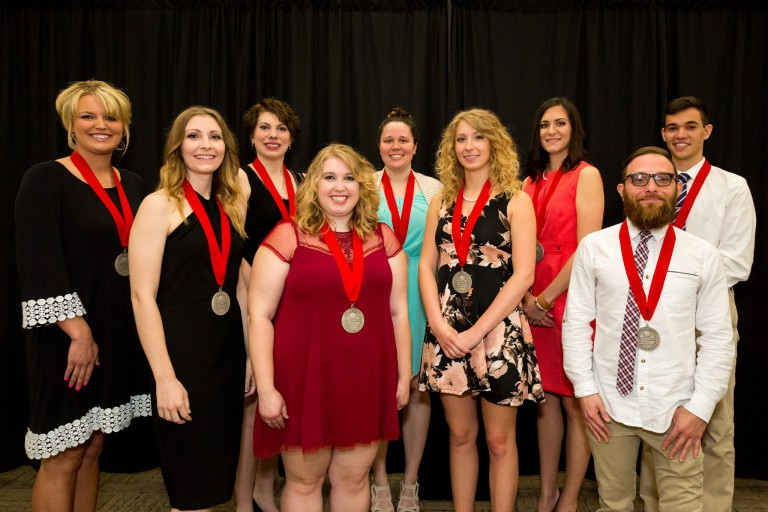 Nine members of IUPUC's first honors class