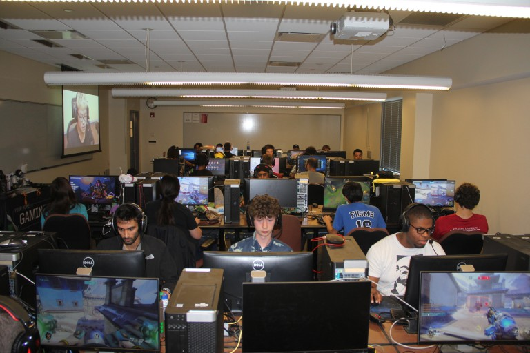 Gamers Hall students playing in computer lab