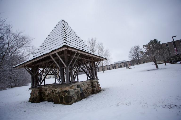 IU Kokomo Well House in the snow