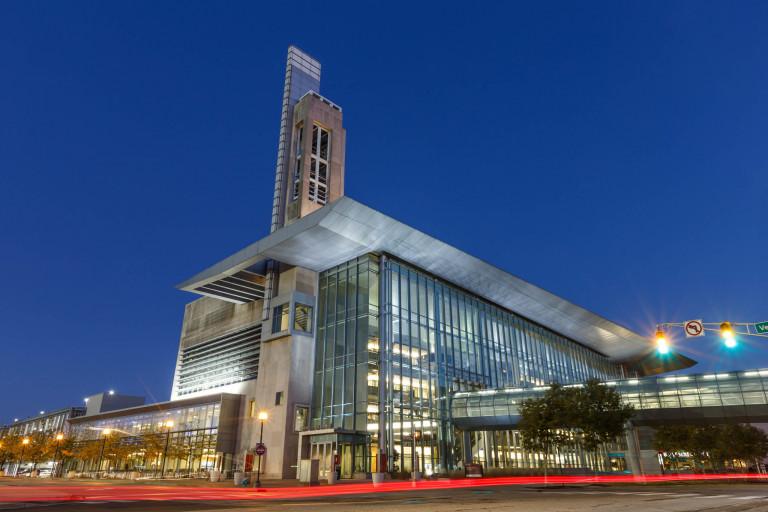 IUPUI Campus Center at sunrise