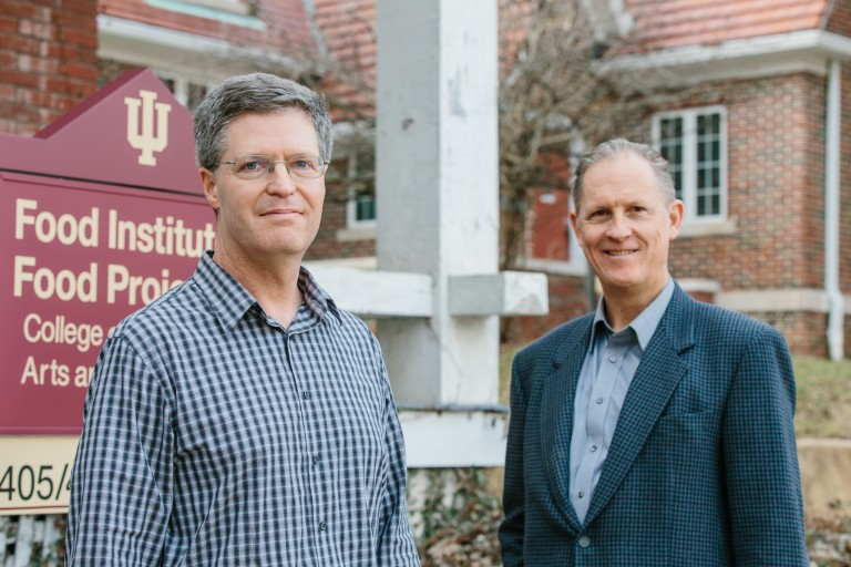 Peter Todd, co-director of the IU Food Institute, and Carl Ipsen, director of the IU Food Program
