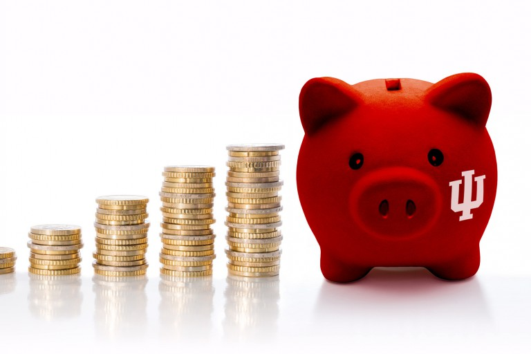 IU piggy bank