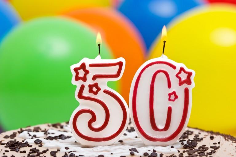 50th birthday candles