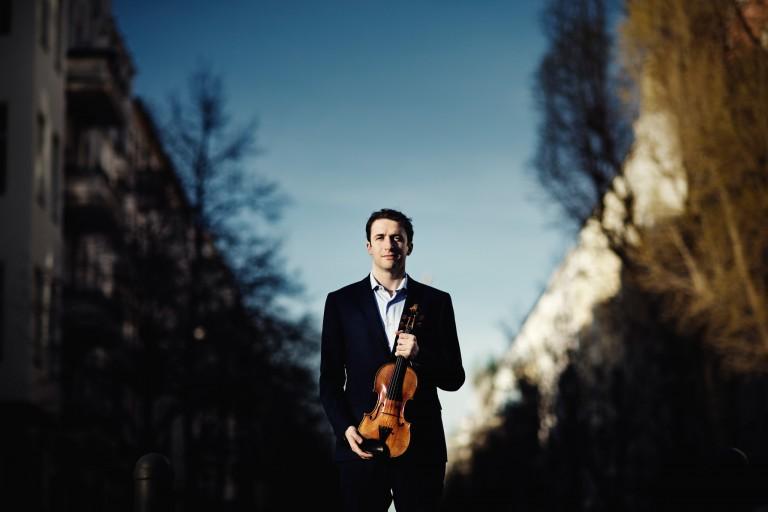 Noah Bendix-Balgley with his violin.