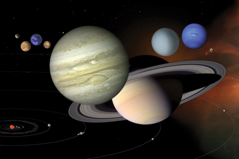 Schematic of planets