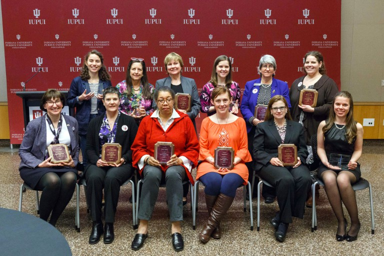 Campus honorees at the Women's Leadership Awards
