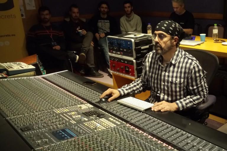 Mark Plati works in a studio