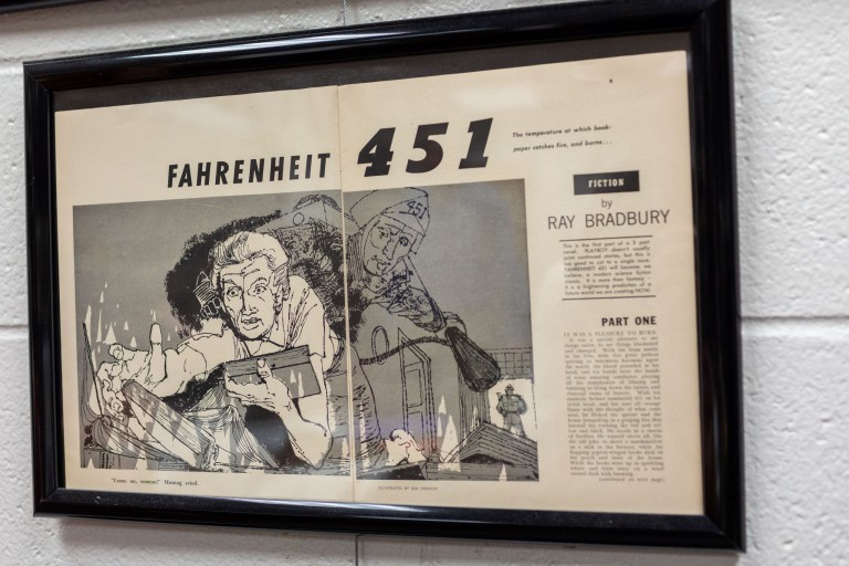 Original pages from a 'Fahrenheit 451' republishing in Playboy No. 2