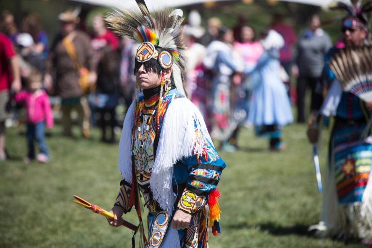 Scenes from the First Nations Powwow.