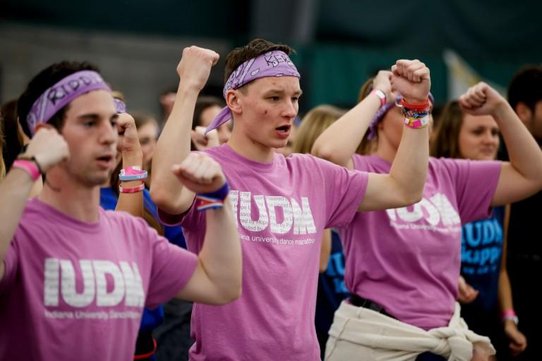 Students participate in IU Dance Marathon