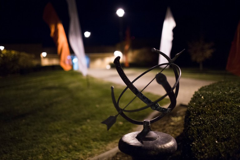 A sculpture on the IU Southeast campus