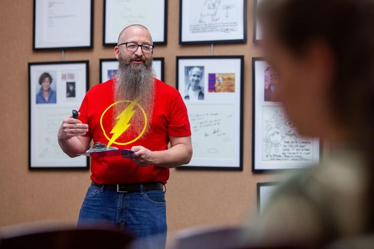 Mark Harper speaks at library